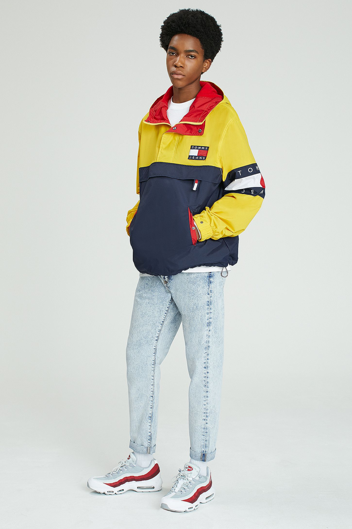 502fe3c82c Tommy Jeans  90s Colourblock Hooded Jacket. Click on image to zoom. Hover  to zoom. Double Tap to Zoom