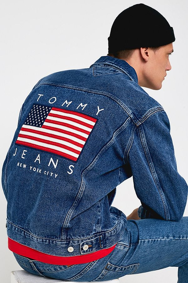 new arrival fb149 0a04e Tommy Jeans – Jeansjacke mit US-Flaggendesign