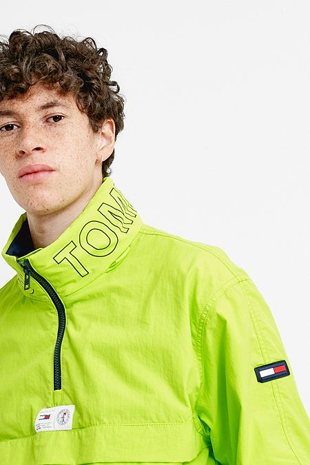 Tommy Jeans Acid Lime Popover Jacket 46ddd0343