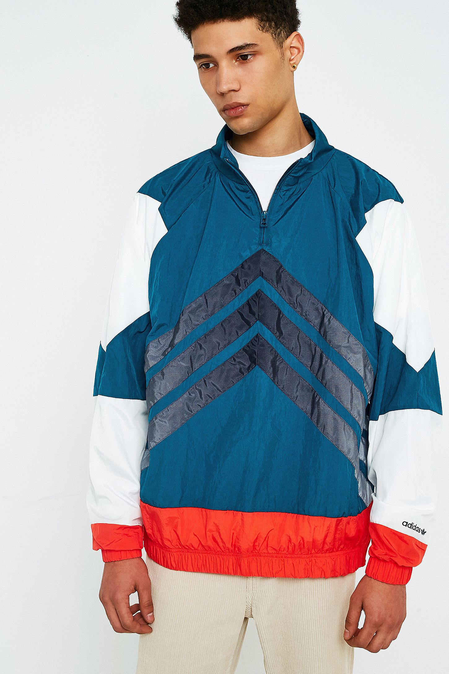 b2f4b4ac3f73 adidas V Stripes Windbreaker Jacket. Click on image to zoom. Hover to zoom.  Double Tap to Zoom