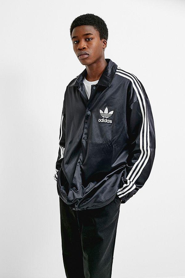 Black Coach Satin Jacket Black Jacket Adidas Coach Satin Adidas Black Adidas QrCxEedBoW
