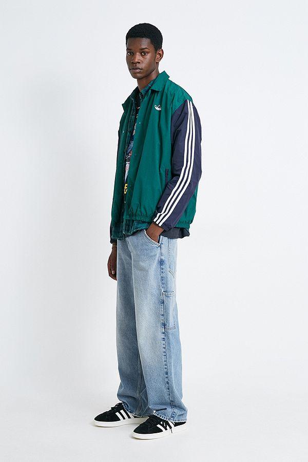 new styles closer at good quality adidas - Veste de coach logo trèfle vert et bleu marine