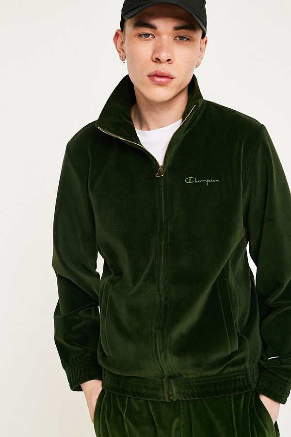 6444c6030c8f7 Champion Green Velour Track Top