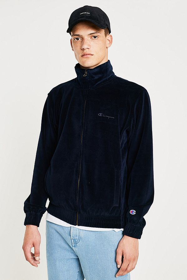 c564261b3447a Champion Navy Velour Track Top