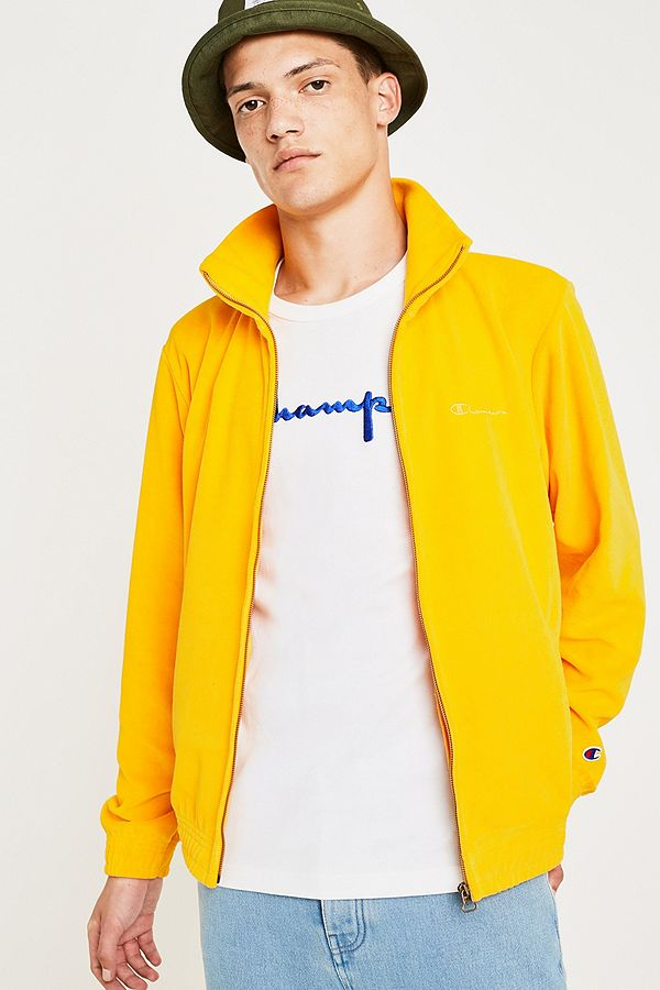 c9716219a87e1 Slide View  1  Champion Yellow Velour Track Top