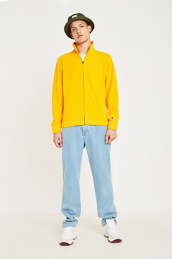 3af73a33b8ac5 Slide View  2  Champion Yellow Velour Track Top