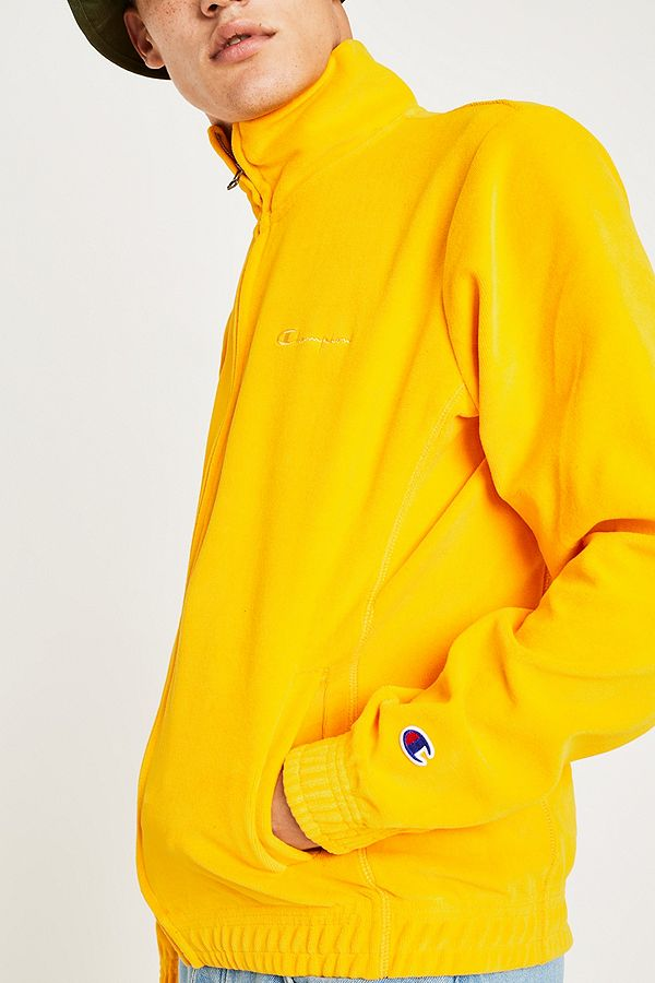 cf5a704be5673 Slide View  5  Champion Yellow Velour Track Top