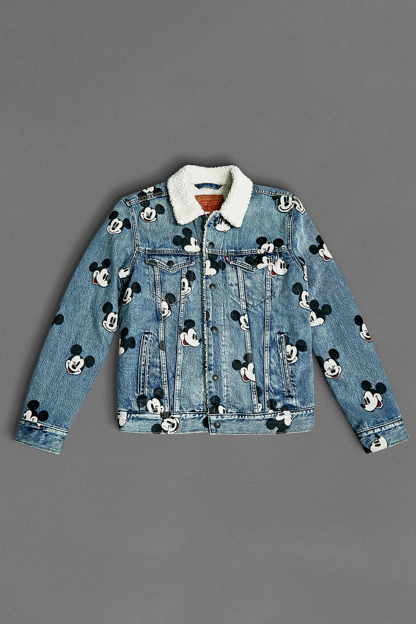 371192d10050 Levi s Mickey Mouse Allover Print Denim Jacket