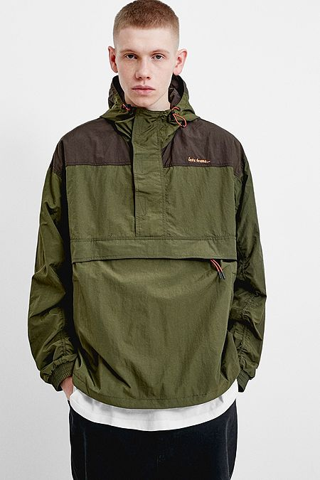 b43eba99b6d iets frans… Khaki Popover Anorak Jacket