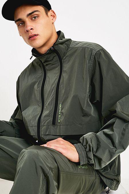 bca3d1d2726 iets frans… Khaki Iridescent Track Jacket