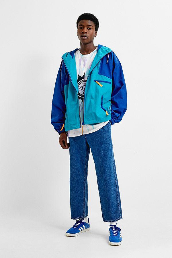 aa5239f6d25 Slide View  1  iets frans...Blue Colourblock Windbreaker Jacket