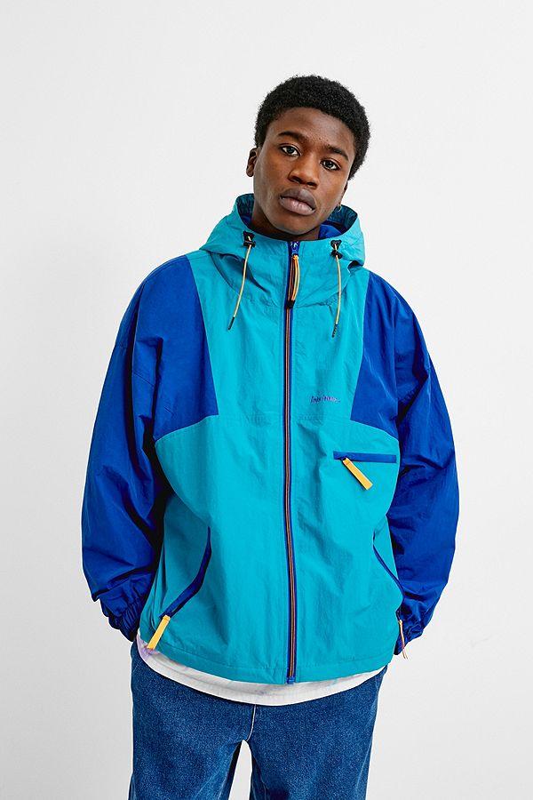 9eef525d83f Slide View  2  iets frans...Blue Colourblock Windbreaker Jacket