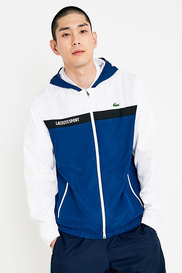 8c2ad008a1 Lacoste SPORT White and Navy Zip Jacket | Urban Outfitters UK