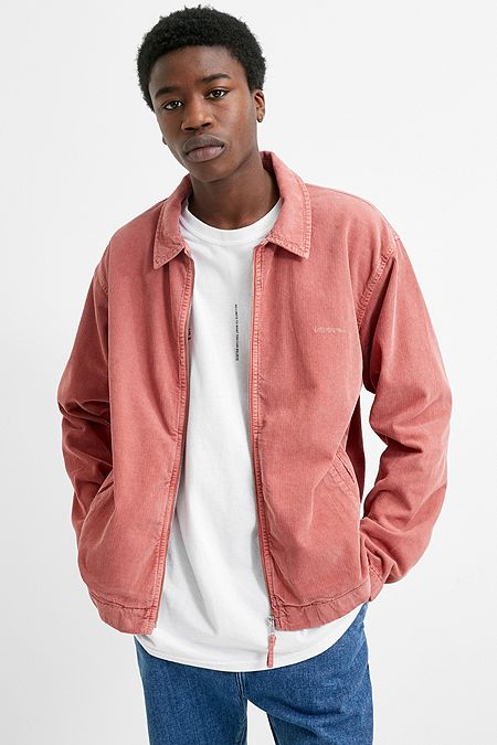 e34086b8f7b iets frans… Pink Corduroy Harrington Jacket