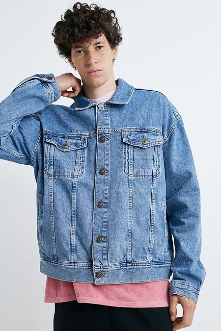 f7dba868d52b BDG Light Wash Denim Trucker Jacket