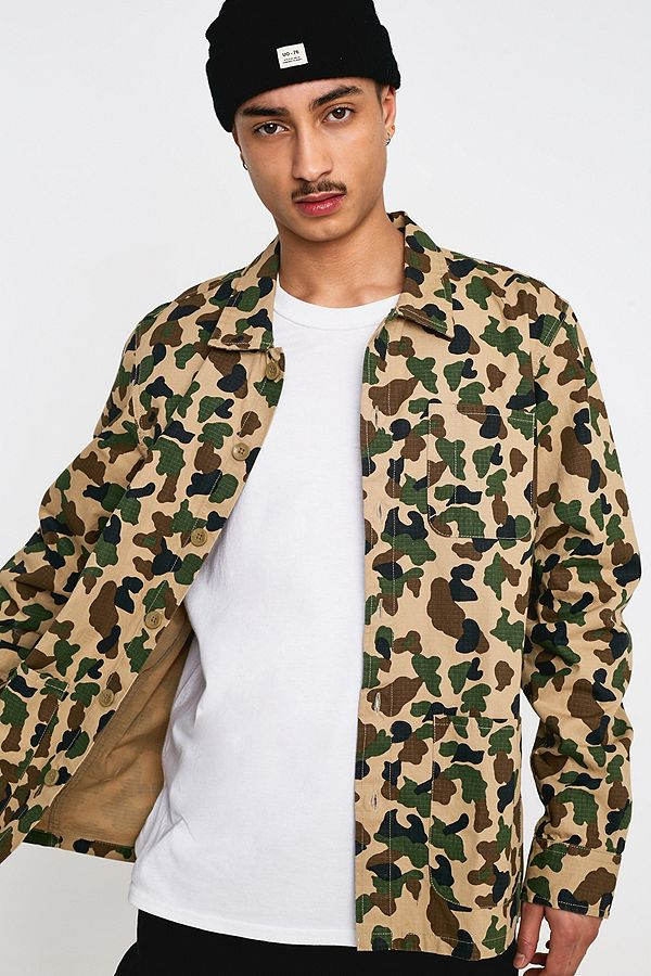 a6808bb7ac61f Dickies Kempton Duck Camo Overcoat | Urban Outfitters UK