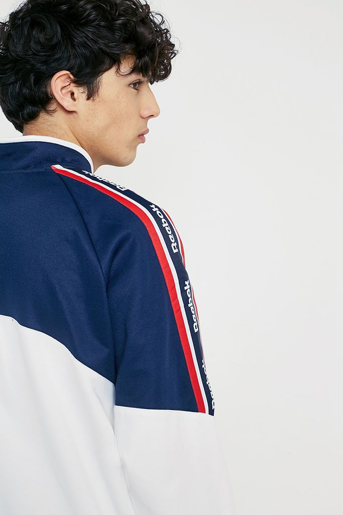 Reebok Franchise White Track Top | Urban Outfitters DE
