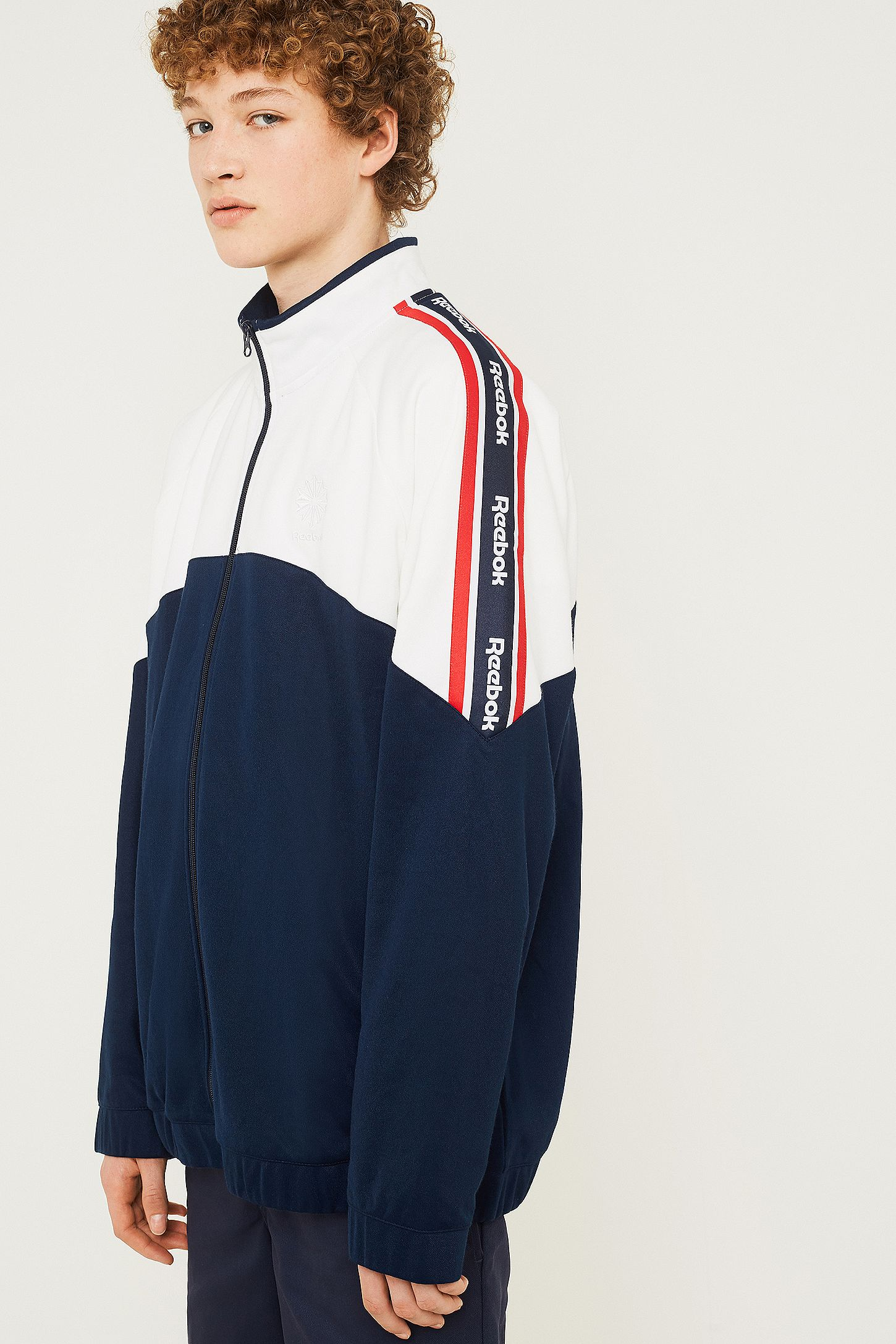 dfefc76b789 Reebok Franchise Navy Track Top. Click on image to zoom. Hover to zoom.  Double Tap to Zoom