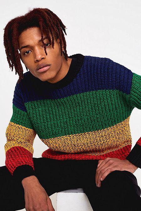 27c625e2b4c2c1 Lazy Oaf Rainbow Knit Stripe Jumper