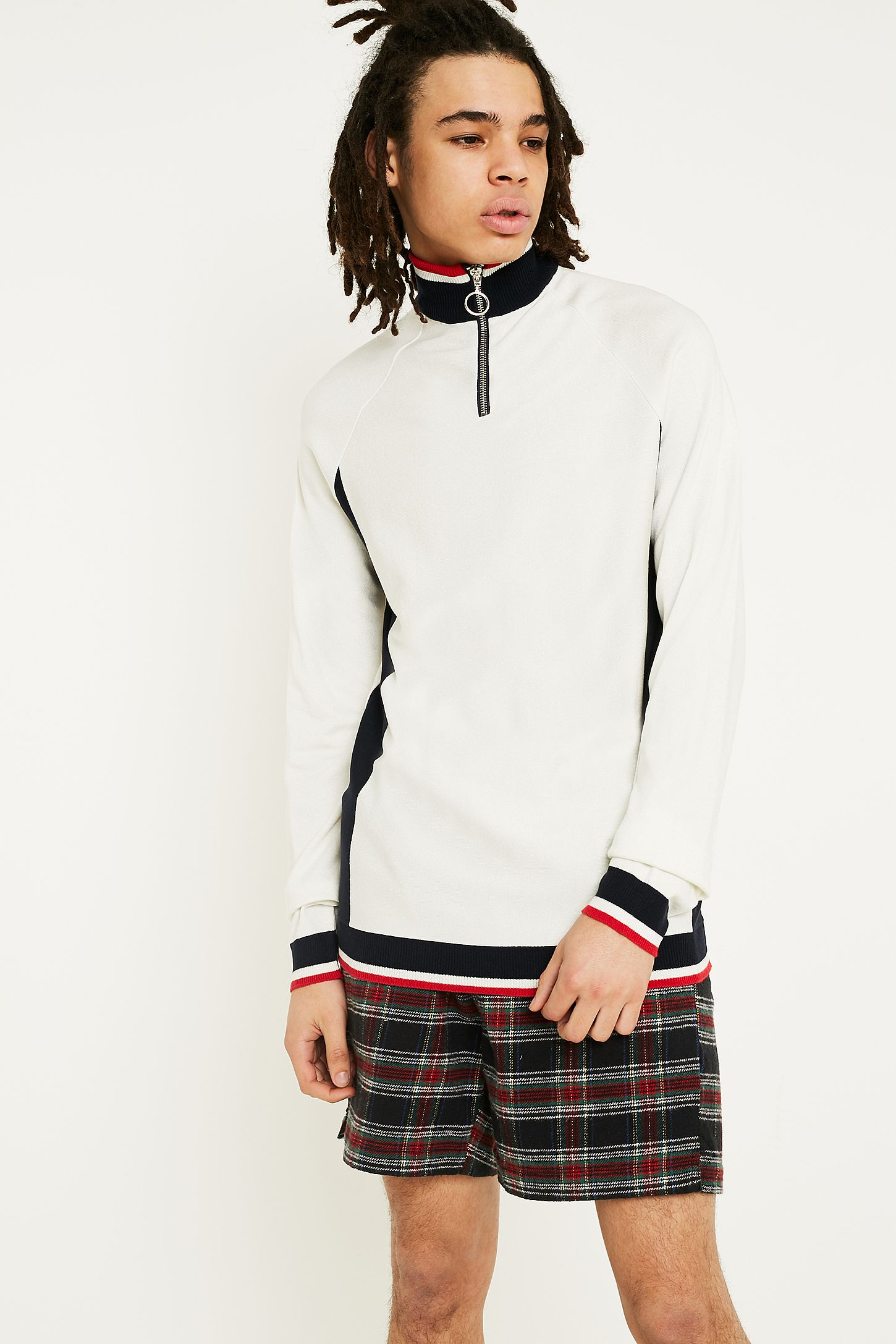 ada9ccacafccd9 Loom Off-White Side Panel Mock Neck Jumper | Urban Outfitters UK