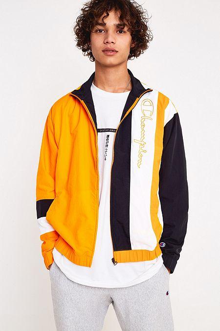 df7338bbb2b Champion Orange Logo Shell Jacket