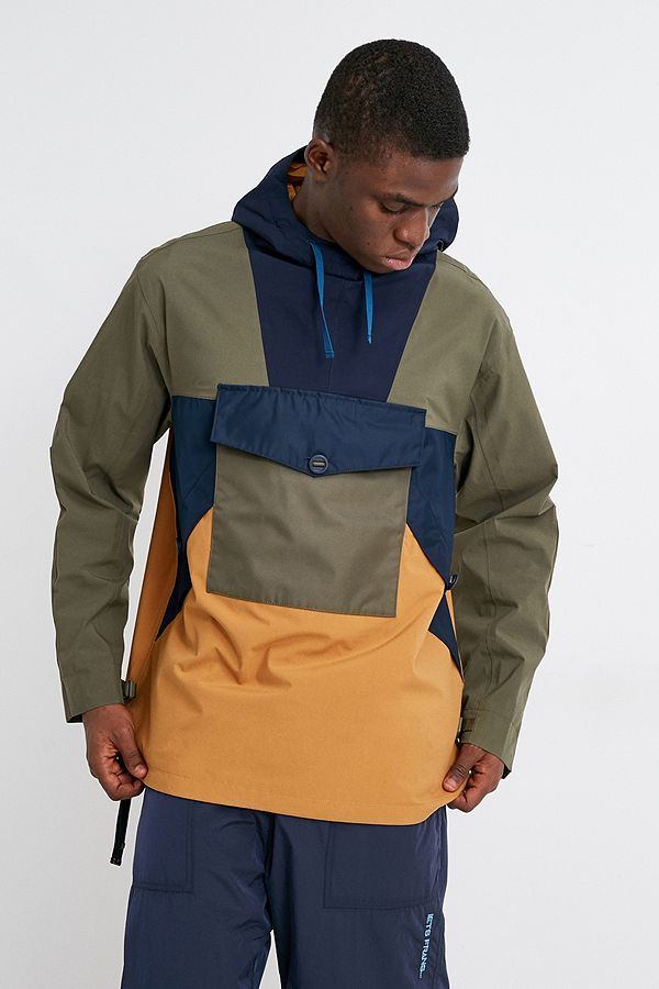 modern techniques classic style Good Prices Timberland Ecoriginal Navy and Green Waterproof Anorak Jacket