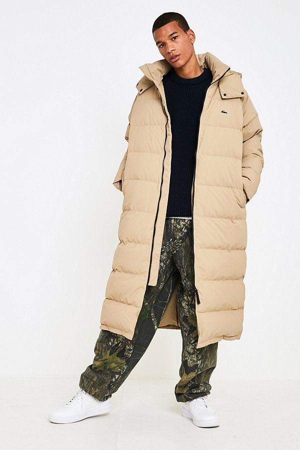 2b5637cd8273 Lacoste LIVE Sand Longline Puffer Jacket
