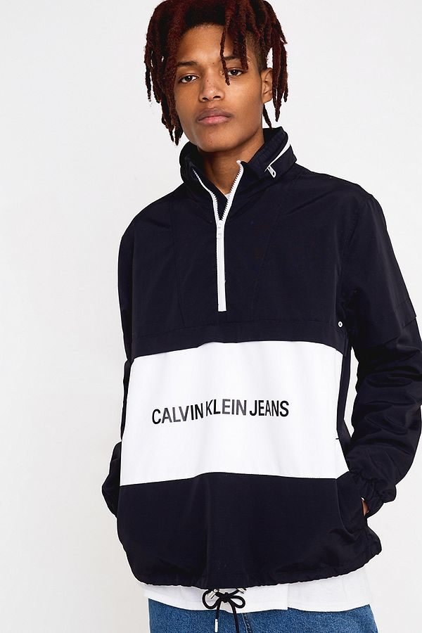 b8da98ee Slide View: 1: Calvin Klein Jeans Institutional Logo Black Popover Jacket