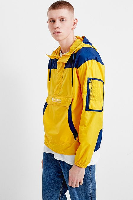 a7878196f82 Columbia Challenger Yellow and Blue Windbreaker Jacket