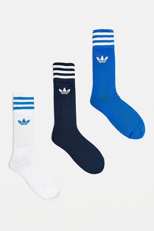 73c97ca612 adidas Blue, White and Navy Crew Socks 3-Pack