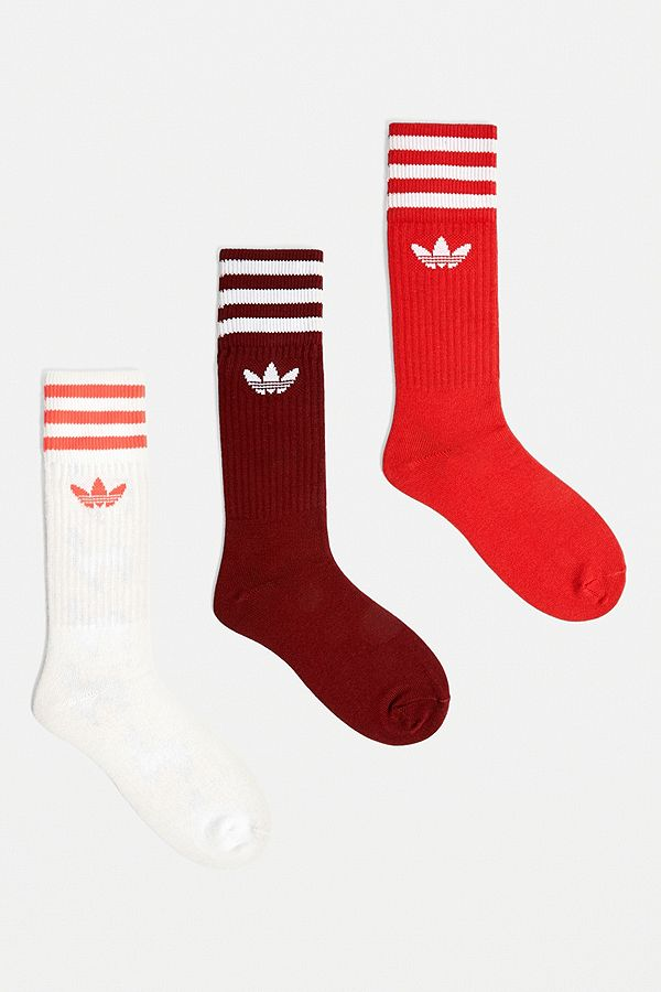many styles new product exclusive shoes adidas – Socken im 3er-Pack in Rot