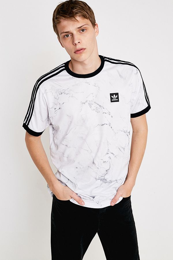 36839d665 adidas Allover Print White Marble T-Shirt