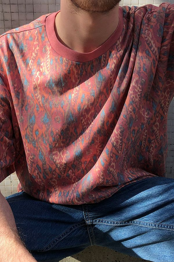 Uo Ikat Allover Print T Shirt by Urban Outfitters