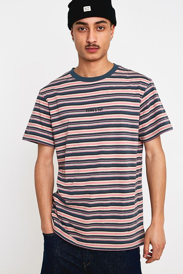 94c75ec68c UO Pink and Blue Billie Striped T-Shirt | Urban Outfitters UK