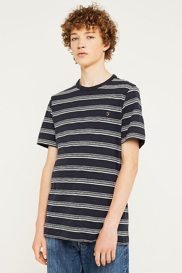 4c5e8b0a06 Farah Regis Striped Navy T-Shirt | Urban Outfitters UK