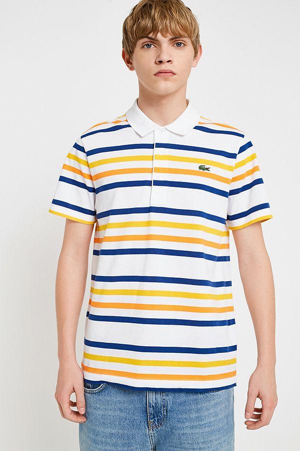 fcec9096f6 Lacoste - Polo manches courtes à rayures multicolores. | Urban ...