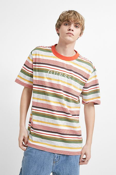 96bb762bc6a GUESS Originals Bright Multi-Stripe Short-Sleeve T-Shirt