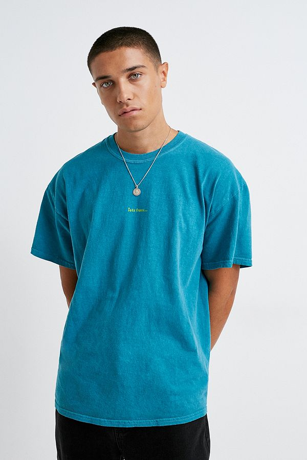 Iets Frans… Overdyed Teal T Shirt by Iets Frans...