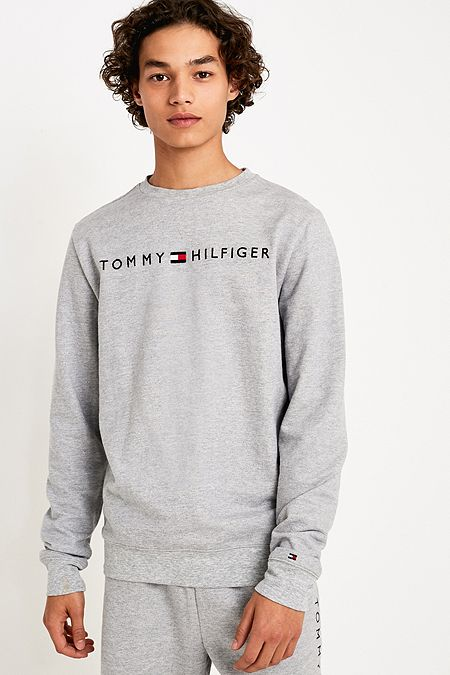 5b6f45421e10 Tommy Hilfiger Grey Crew Neck Sweatshirt
