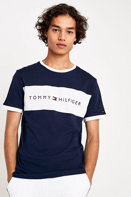 ecb32414fed Tommy Hilfiger Flag Logo Navy T-Shirt