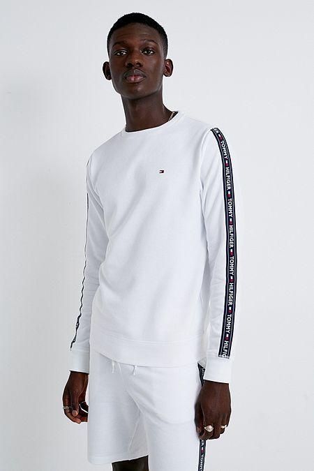 291e94ceef6 Tommy Hilfiger Taped White Crew Neck Sweatshirt. Quick Shop