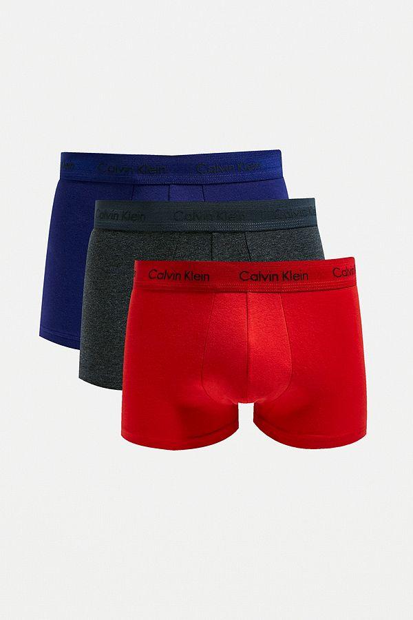 Calvin Klein Boxershorts Im 3er Pack In Rot Blau Und Grau Urban