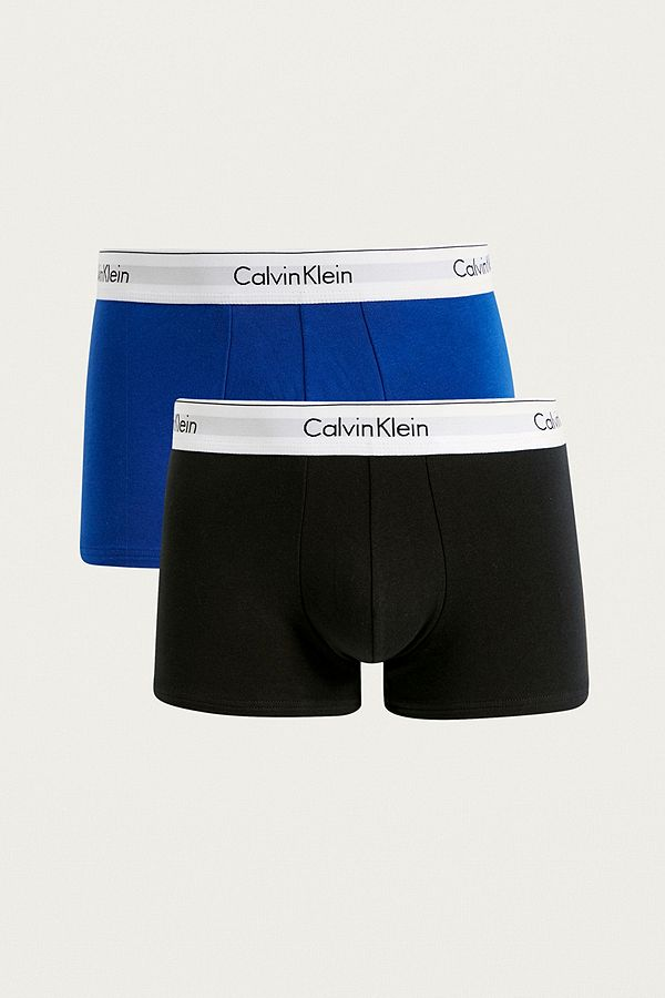 b7690938f7a Calvin Klein Blue and Black Boxer Trunks 2-Pack | Urban Outfitters UK