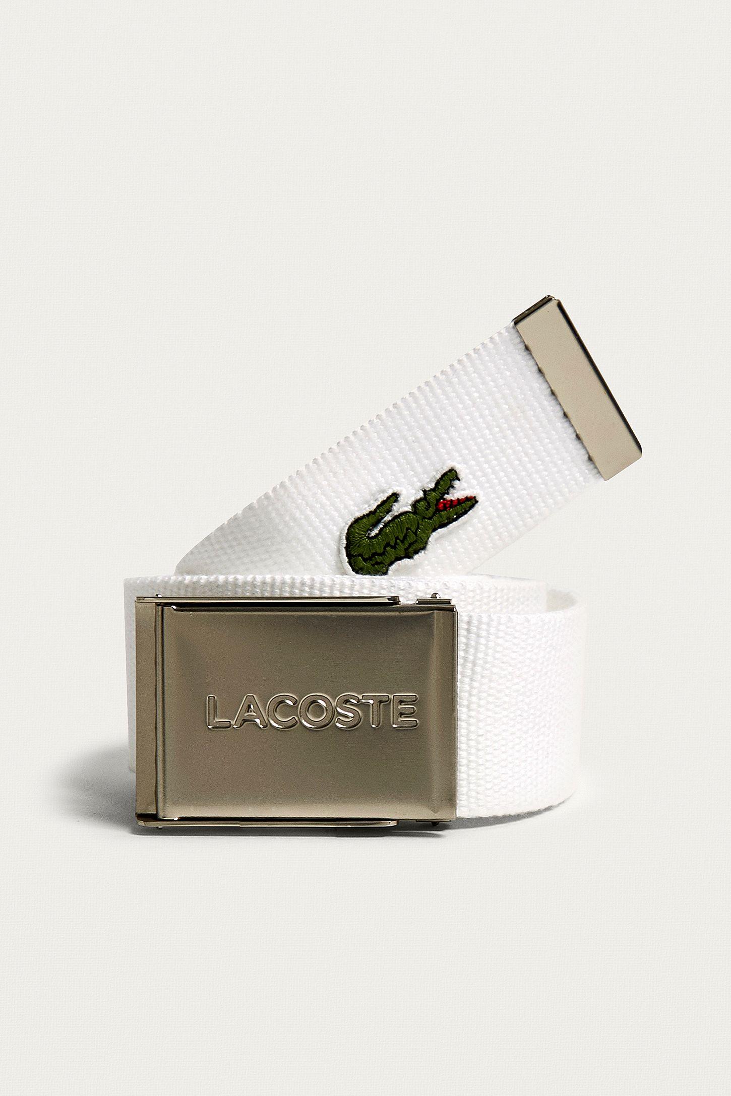 7aae8dbc8 Lacoste Croc Logo White Belt