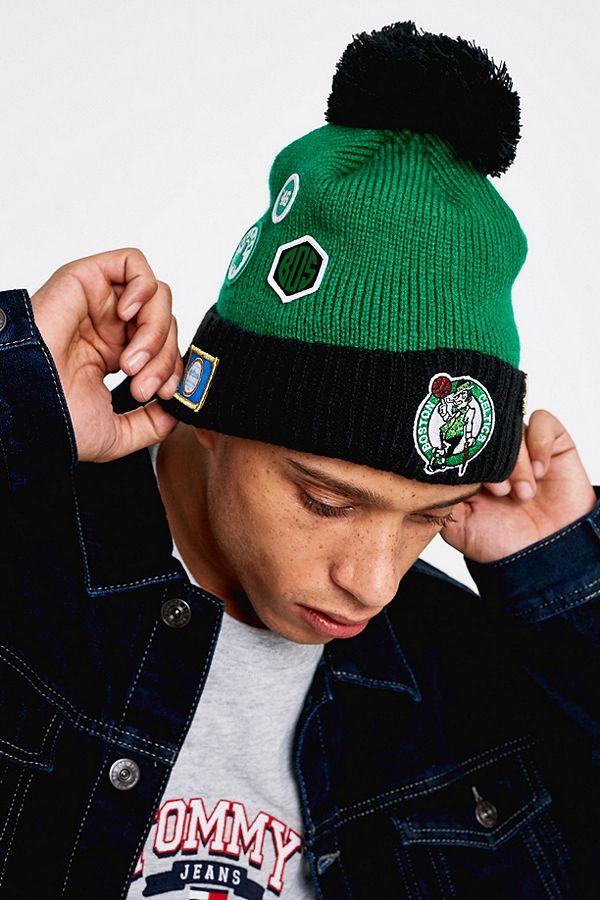 best supplier available new york New Era Boston Celtics NBA Draft Bobble Beanie | Urban Outfitters UK