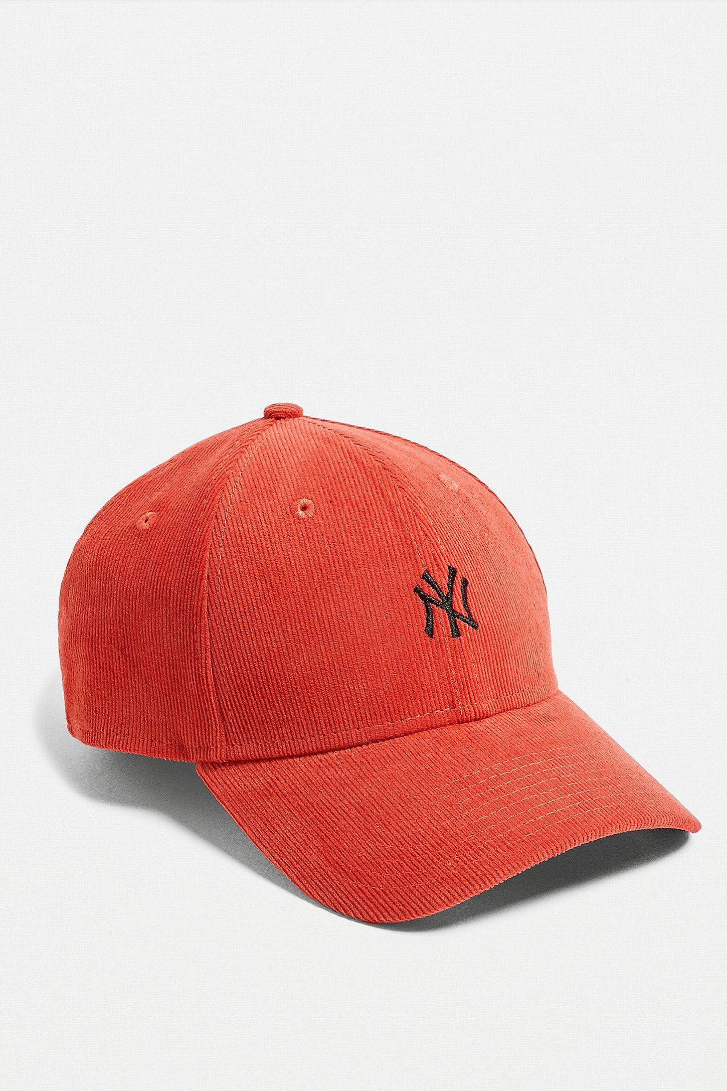 e363b5219ae Slide View  3  New Era NY Yankees Bright Orange Corduroy Cap