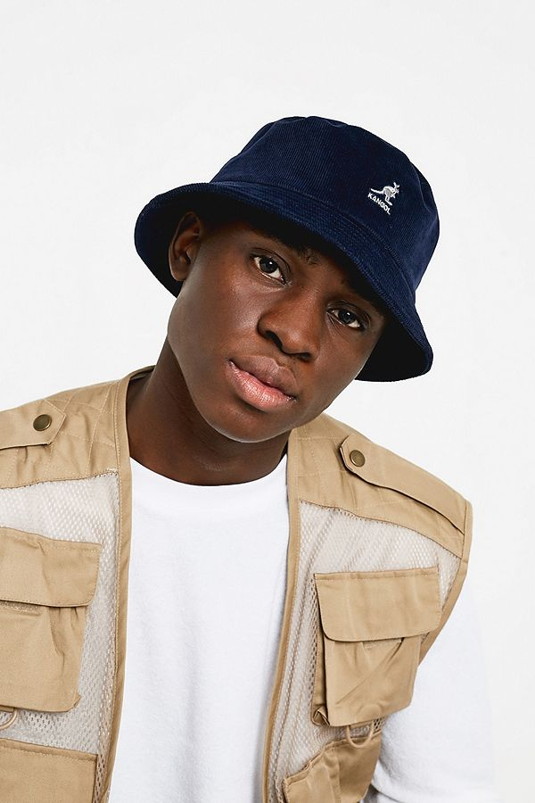bfd3e9c2 Kangol Navy Corduroy Bucket Hat | Urban Outfitters UK