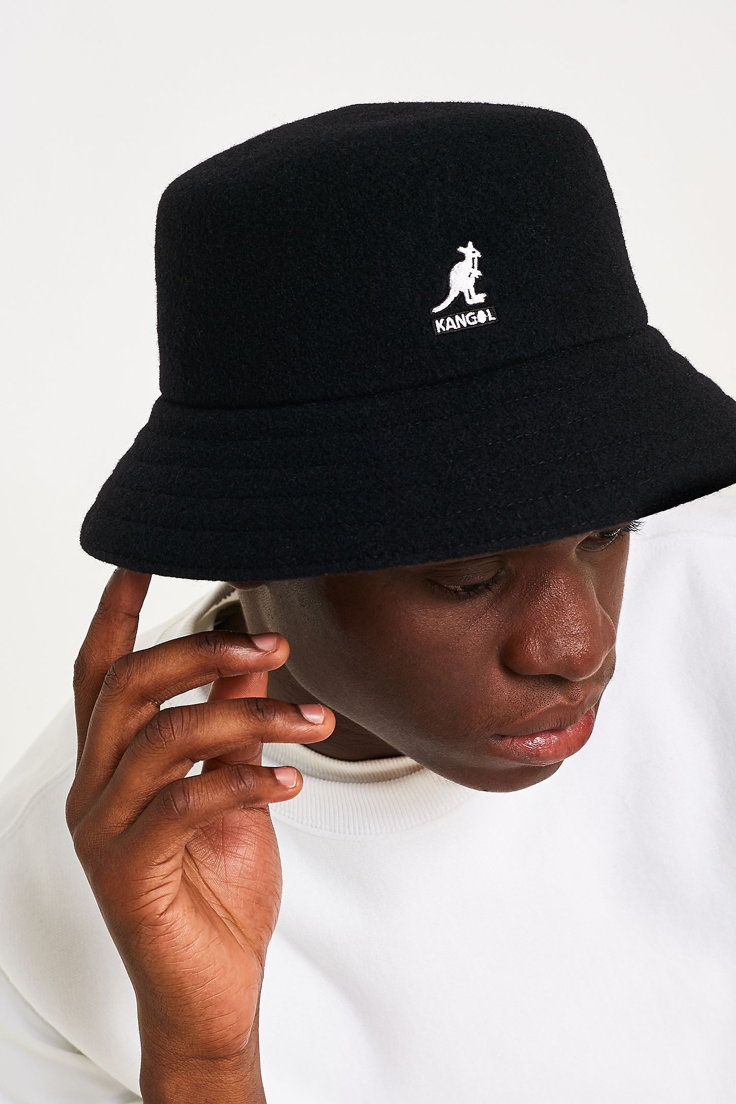 d8fecd54397fb Kangol Wool Lahinch Black Bucket Hat