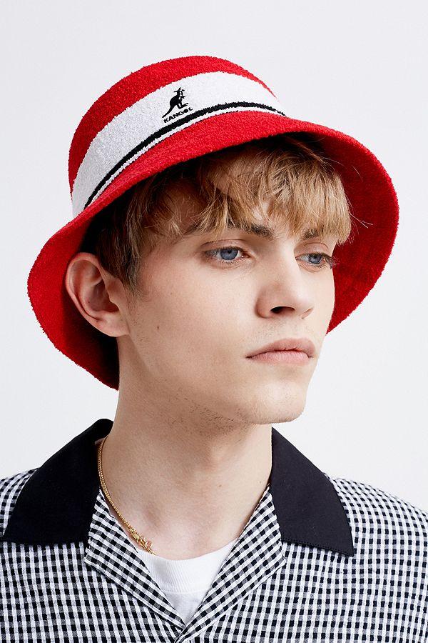 8e5de5da7 Kangol Bermuda Red Stripe Bucket Hat