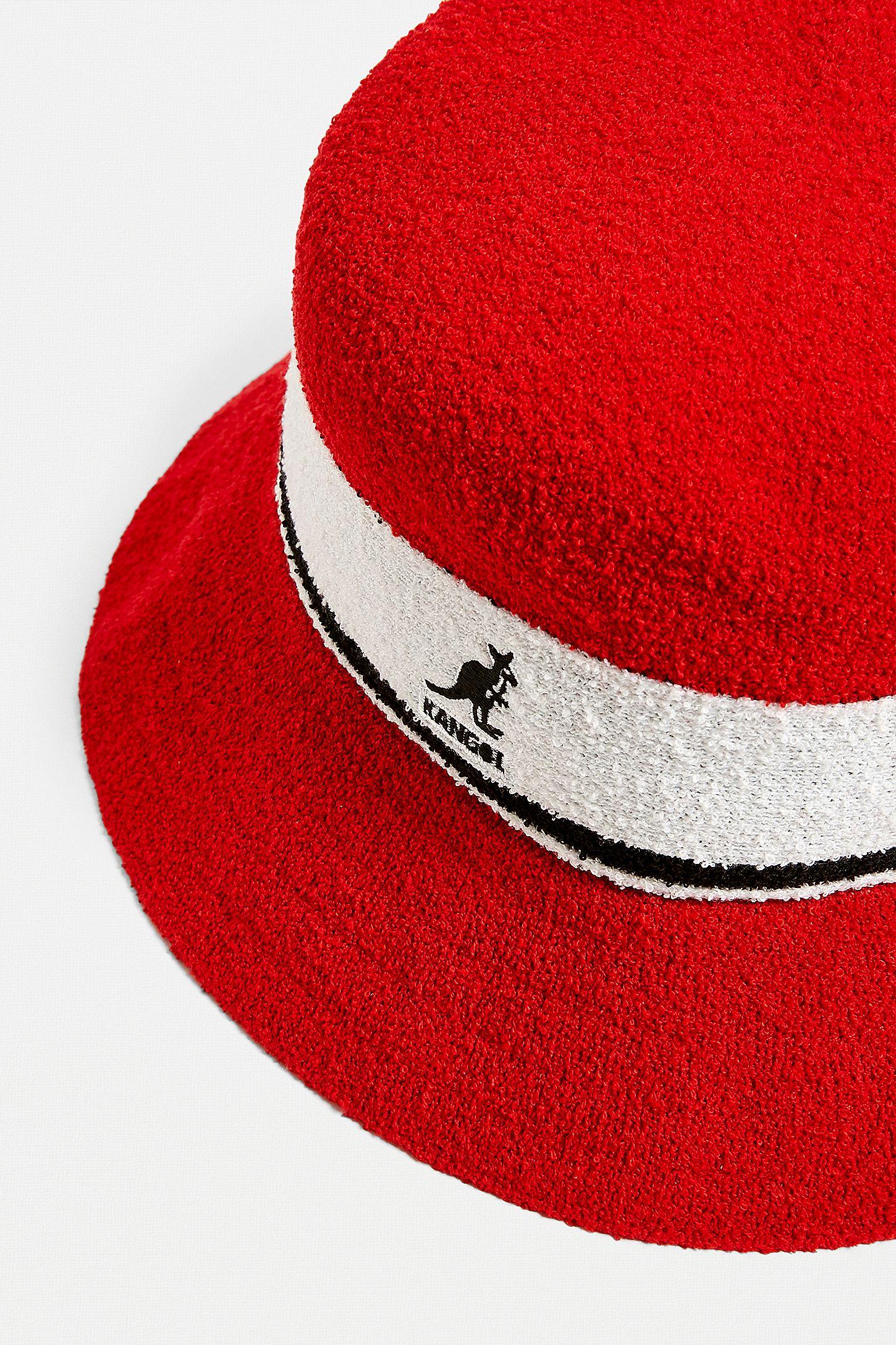 6d097f124321f Slide View  2  Kangol Bermuda Red Stripe Bucket Hat